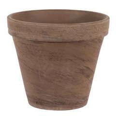 Pot horticole en terre cuite, basalt Ø 31,5 x H. 25,2cm