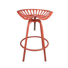 Chaise Tracteur en acier, rouge H. 70 cm