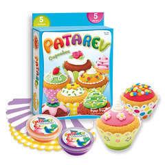 Pâte à modeler Patarev Cupcakes : 5 coloris assortis