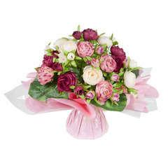 Bouquet bulle, fuchsia H31 x D33 cm