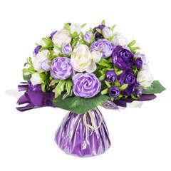 Bouquet bulle, lavande H31 x D33 cm