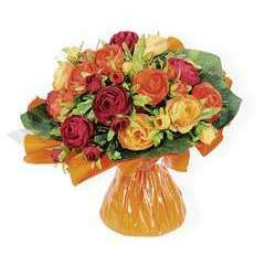Bouquet bulle, orange H31 x D33 cm