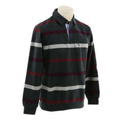 Polo Raye Anthracite Rouge XL