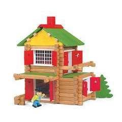 Jeu de construction en bois Mon Chalet en Bois 135 pieces