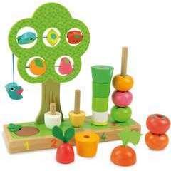 Jeu en bois J'apprends à compter les légumes
