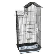 Cage Hilton : Noire L47,5xl36xH100 cm