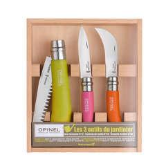 Coffret en bois les 3 outils du jardinier