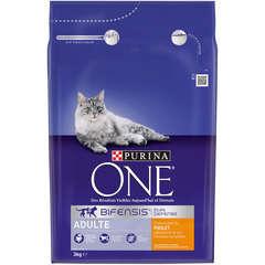Croquettes chat One adulte, poulet et céréales complètes: 3 kg