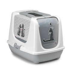 Maison toilette Cats in love pour chat : L50xl39xH39 cm
