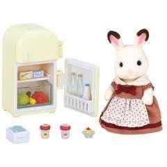 Miniatures : Maman lapin choco/refrig 16,5x7,4x16,5cm en plastique