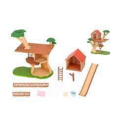 Miniatures : Cabane dans les arbres 38x21,5x33cm en plastique