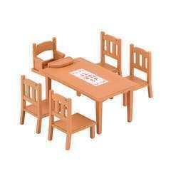 Miniatures : Table de repas   12,5x5x12cm en plastique