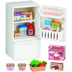 Miniatures : Set refrigerateur   6,7x6,1x14,3cm en plastique