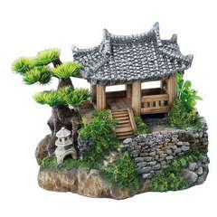 Décoration d'aquarium korean cottage : L22,5xl19xH18,5 cm