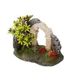 Décoration d'aquarium roman arche 2 : L16xl8,5xH12 cm