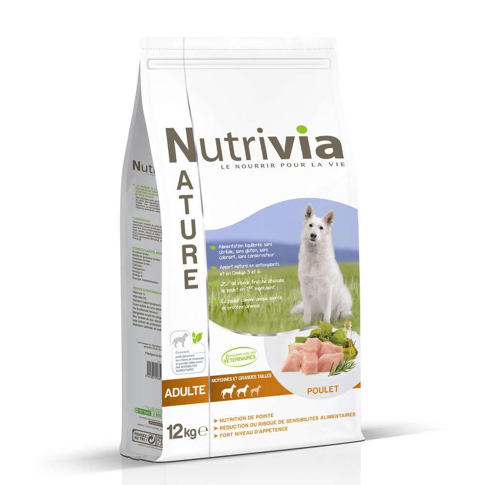 Nutrivia Nature Aliments Complet Pour Chien Poulet 12 Kg Truffaut