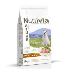 Nutrivia Nature Aliments complet pour chien : Poulet 12 kg