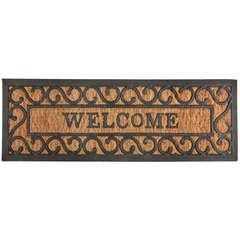 Paillasson 'Welcome', en coco/caoutchouc L. 75 x l. 25 cm