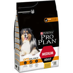 Croquettes chien adulte Moyen avecOptihealth : 3 kg