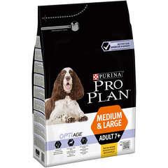 Croquettes chien sénior 7+avec Optiage : 3 kg