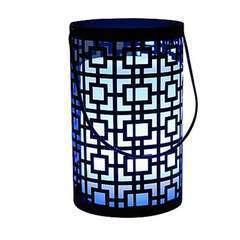Lanterne Joy multicolore (photophore en acier + télécommande) H. 20 cm