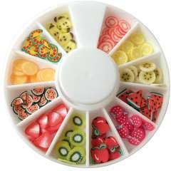Tranches de mini canes fruits Assortiment 12 modèles