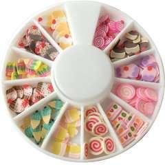 Tranches de mini canes bonbons patisseries assortiment 12 modèles