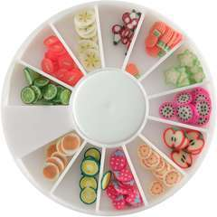 Tranches de mini canes fruits exotiques assortiment 12 modèles