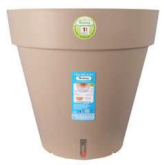 Pot Loft à réserve d'eau, en polypropylène, taupe Ø 29,5 x H. 27 cm