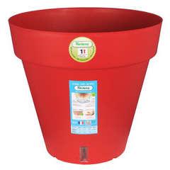 Pot Loft à réserve d'eau, en polypropylène, rouge Ø 49 x H. 45 cm