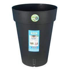 Pot Loft Haut à réserve d'eau, en polypropylène, noir H. 52 cm