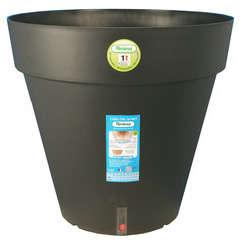 Pot Loft à réserve d'eau, en polypropylène, noir Ø 20 x H. 18 cm