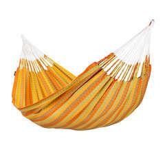 Hamac double orange en coton (L 350 cm x l 160 cm)