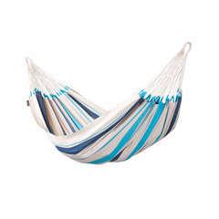 Hamac simple bleu en coton (L 300 cm x l 140 cm)