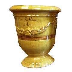 Vase Anduze Mini, jaune Ø 17 x H. 22 cm