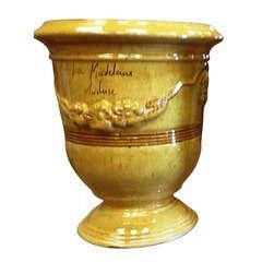 Vase Anduze Mini, jaune Ø 28 x H. 32 cm