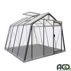 Serre de jardin S104H HT, en verre - 9,12m²
