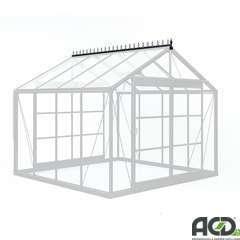 Décoration faîtière en aluminium laqué, longueur 7 vitres