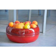 Pot Melilo, coloris bois de santal Ø 24 x H. 11 cm