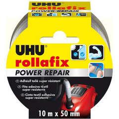 Ruban adhésif toilé Rollafix Power Repair, gris 10mx50mm