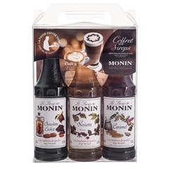 Coffret Monin Barista (3x25cl): Choco cookie, noisette, caramel