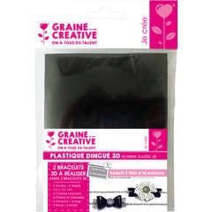 Kit de 2 bracelets 3D, noir/blanc