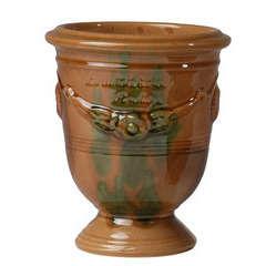 Vase Anduze Mini, coloris flammé Ø 12 x H. 14 cm