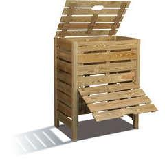 Composteur en bois avec trappe 400 L