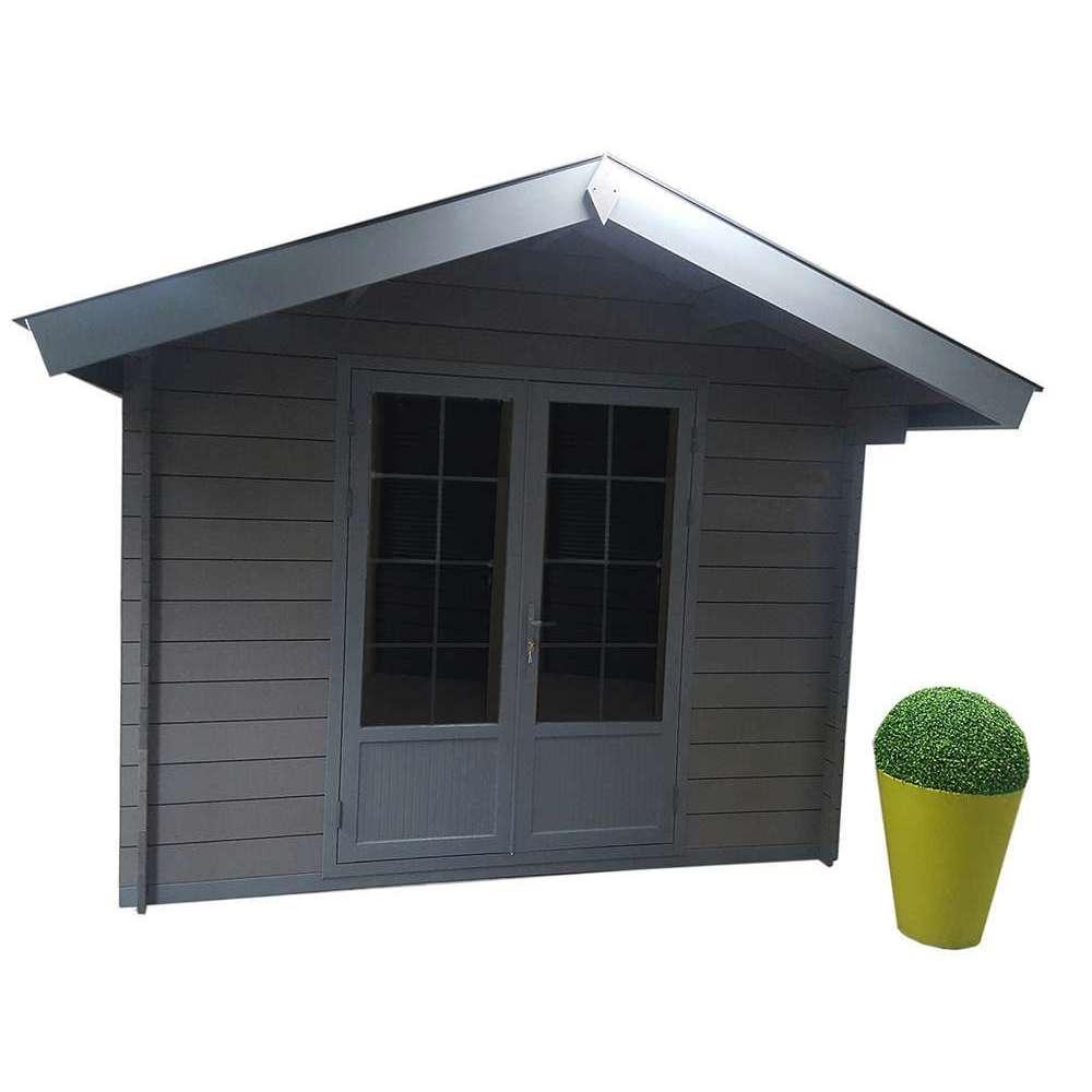 Abri De Jardin En Composite 2 Portes Gris 7 68 M Truffaut