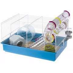 Cage pour hamsters 'Paula' Bleu - 46x29,5x24,5 cm