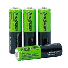 Piles AA solaires rechargeables (1,2V) x4