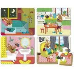 Puzzles de la maison - coffret bois 4 x 6 pces