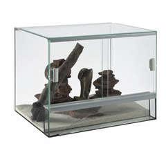 Terrarium en verre pour reptile L30xl25xH25cm