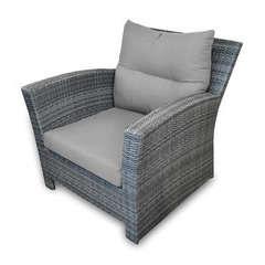 Fauteuil Sofa SEATTLE en résine tressée avec coussin